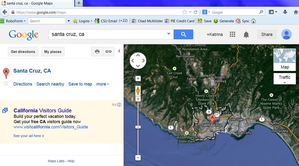 how to use google maps to figure out the area